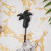 Afbeelding van Palmboom Wandhaak-Zwart-6x14cm