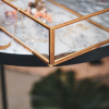 Bild von Goldene Schmuckkiste Glas 20x12x6cm