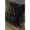 Afbeelding van Kussensloop d. olijf fluweel gevlochten