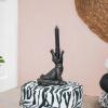 Bild von Krokodil-Kerzenständer-15x18x12 cm-black-hobersevitamin