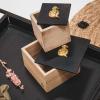 Afbeelding van Houten doosje met aapje - M
