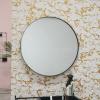 Afbeelding van Ronde Metalen Spiegel-Zwart-100cm