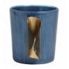 Bild von Teestichthalter blaues Glas mit Metall