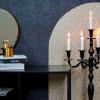 Bild von Chandelier 5-Arm-Kerzenständer - Schwarz - 44x79cm