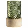 Bild von Glas-LED-Vase mit Halterung