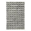 Afbeelding van TRIANGLE leder tapijt grijs / zwart