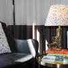 Bild von Punkte Lampenschirm-17x30x20cm-schwarz / weiß