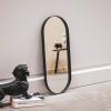 Afbeelding van Ovale Spiegel Zwart - 25x3x60cm