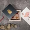 Afbeelding van Houten doosje met ananas - S