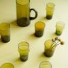 Afbeelding van Marokkaans Glas met Gouden Rand Mosterd