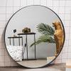 Afbeelding van Ronde Metalen Spiegel-Zwart-120cm