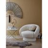 Afbeelding van Ted lounge stoel wit polyester