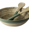 Afbeelding van Schaal + saladecouvert bamboe groen