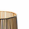 Bild von Teelichthalter - Schwarz / Gold - 12x12x13cm