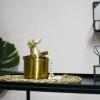 Bild von Goldenes Glas Dachshund - mit Lid-Gold 9x9x11cm