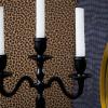 Bild von Kronleuchter 3-Arm-Kerzenständer - Schwarz - 23x9x31