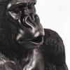 Bild von Gorilla-Tisch mit Glasplatte - schwarz