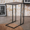 Afbeelding van Bijzettafel-Metaal-Zwart-45x30x60cm