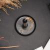 Bild von Kerzenständer Teller-Schwarz - 10x10x3cm