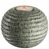 Bild von Teelichthalter Ø106x8cm grün / braun