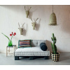 Bild von Lounge Matratze Marokko dunkelgrau 80x30x15