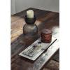 Afbeelding van Vintage Uitstekend Ijzer Tafel met Houten Blad, Rauwe