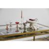 Bild von Etne Esstisch, golden mit klarem Glas