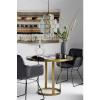 Afbeelding van Luxe Round-Display Tafel, Gouden / Zwart