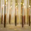 Bild von Dinner Candle CROSS - Sand