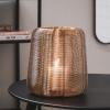 Afbeelding van Metalen Windlicht-Goud 24cm