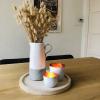 Bild von Keramik-Vase - Weiß und Grau