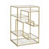Bild von Display mit Glasregalen, golden