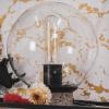 Bild von Glaslampe mit Terrazzo Fuß-17x21cm