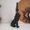 Bild von Lions Candlestick-Black-15x27x8 cm