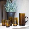 Bild von Vase Recyclingglas 20 cm Senf XL