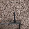 Afbeelding van Zwart metalen ronde Kandelaar- 7x18cm
