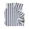 Bild von Dekbedovertrek Remade Nautic Stripes Donker Blauw - 240x220 cm