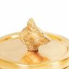 Afbeelding van Gouden potje Wolf- 11x11x12cm