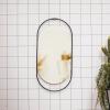 Bild von Ovaler schwarzer Spiegel - 29x1x60cm