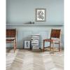 Bild von AYA-Dinnersessel, braunes Leder / Holz