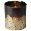 Bild von Teelichthalter Kupfer / Silber Ø10x10