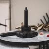 Afbeelding van Set van 6 kaarsen-Zwart-2,3x14cm