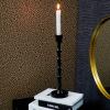 Afbeelding van Zwarte Hoge Kandelaar - 9x9x31cm
