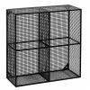 Afbeelding van Wire Box, 4 Legborden, Zwart