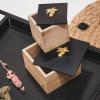 Afbeelding van Houten doosje met palmboom - S