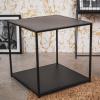Afbeelding van Zwart metalen bijzettaffel-50x50x50cm