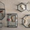 Afbeelding van Opbergboxje Zwart Zeshoek 6x5,5x3,5cm