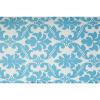 Bild von Lounge Matratze Marokko weiß, blau 80x80x15