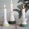 Bild von Scandic-Kerzenhalter-7x5cm-keramisch-weiß / grün
