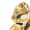 Bild von Gorilla-Bild Geometrisches Gold-16x9x15cm